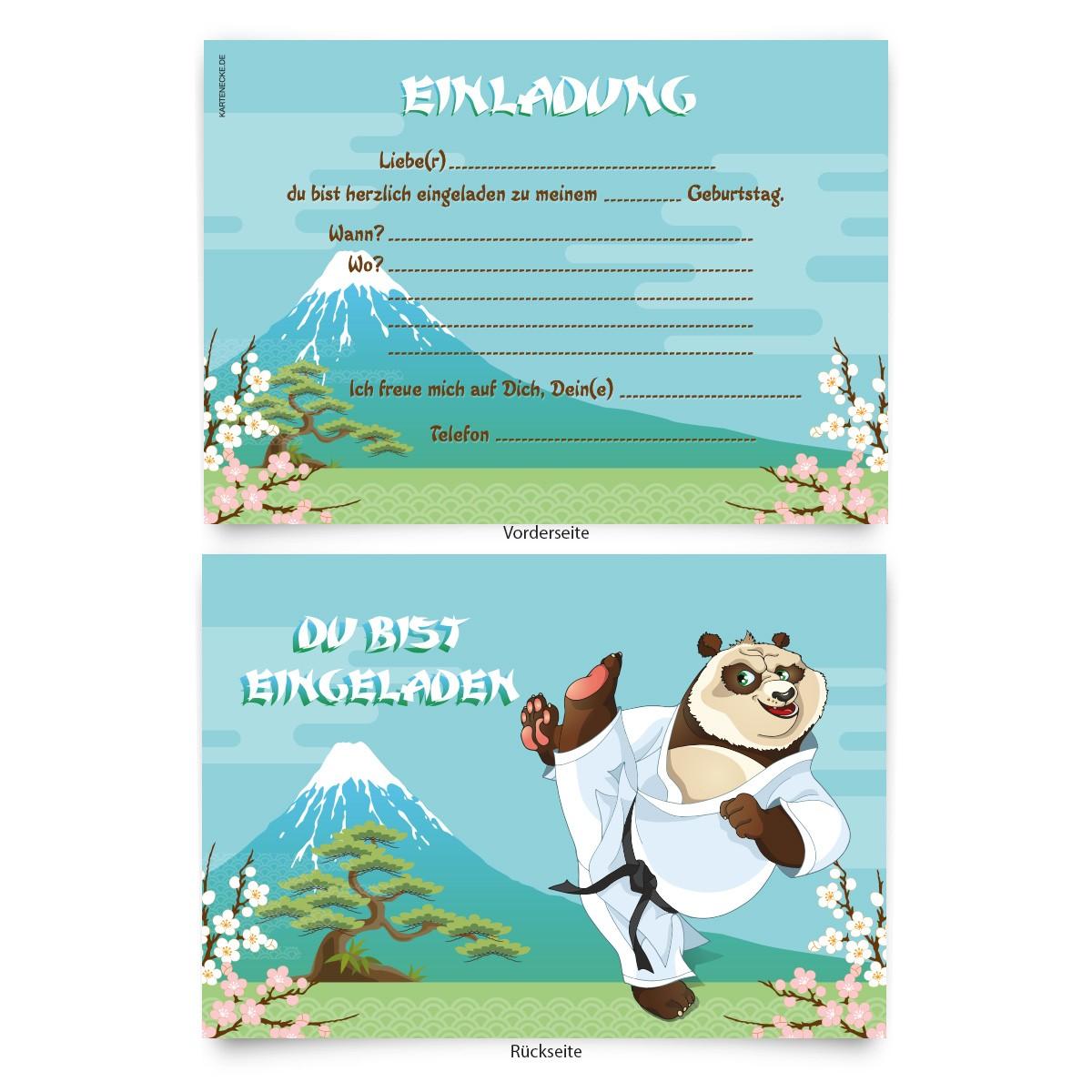 """""""karate"""" kindergeburtstag einladungskarten online"""