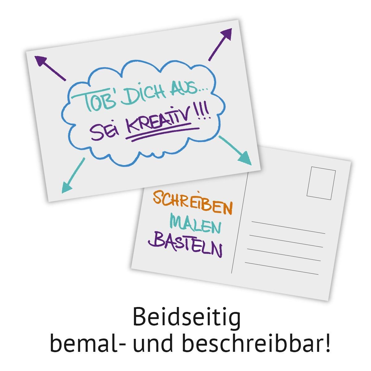 25 x feste blanko postkarten im format din a6 - Blanko postkarten ...