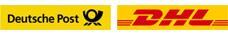 Wir versenden mit Deutsche Post und DHL